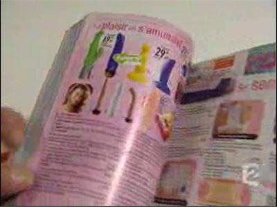 France 2, reportage au journal télévisé du 01 février 2005, godemichés dans un catalogue de vente par correspondance